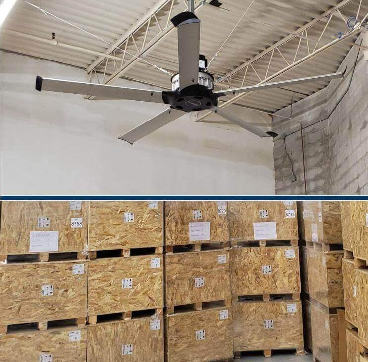 Fan at warehouse